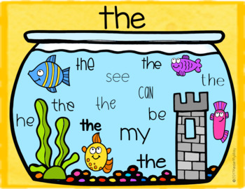 Google Classroom Kindergarten Sight Words  (Google Language Arts)