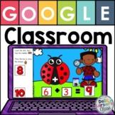 Google Classroom Ladybug Addition 1-10
