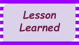 Google Classroom- Lesson Learned Passage and Questions