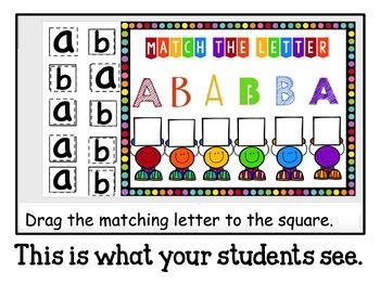 Google Classroom Letter Matching