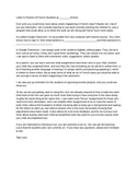 Google Classroom Letter to Parents