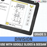Google Classroom Long Division Distance Learning 5th Grade