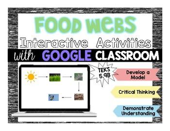 Google Classroom: Make A Food Web