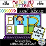 Google Classroom  Matching Letters - Pencils Distance Learning