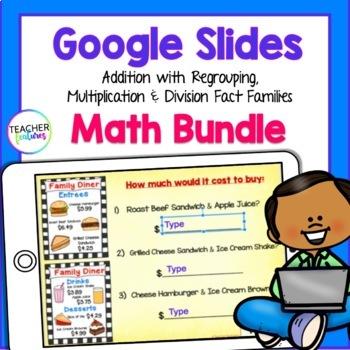 Google Classroom Bundle | Digital MATH for 2nd & 3rd Grade
