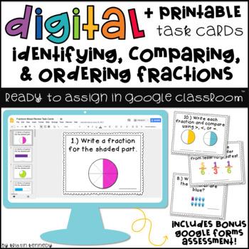 Google Classroom™ Math Activities: Fractions Digital Task Cards
