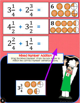 Google Classroom Activities: Adding Mixed Numbers with Like Denominators