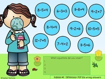 Google Classroom Math | ADDITION & SUBTRACTION FACTS | Digital Task Cards