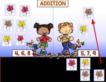 Google Classroom Fall Leaves ADDITION & SUBTRACTION