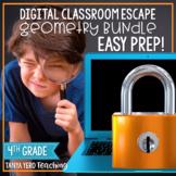 Google Classroom Math Digital Escape Room Geometry 4th Grade BUNDLE 4.G.1 4.G.2