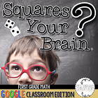 Google Classroom Math Review Games First Grade: Squares Yo