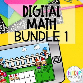Google Classroom Math Growing Bundle - Digital Version