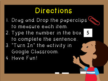 Google Classroom Math Measurement Activity (K-1)