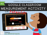 Google Classroom Math Measurement Activity (K-1) DISTANCE