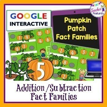 Google Classroom Math: Pumpkin Patch Addition & Subtractio
