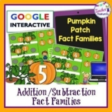 Google Classroom HALLOWEEN MATH PUMPKINS Addition & Subtraction Fact Families