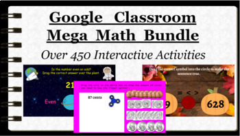 Google Classroom: Mega Math Bundle 1st, 2nd, 3rd, Grade