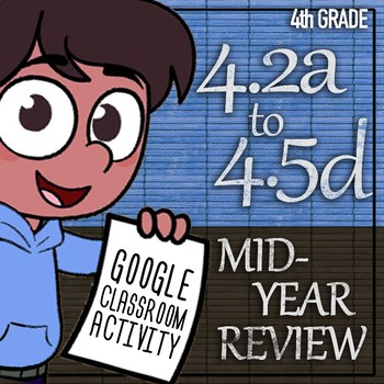 Google Classroom Mid-Year STAAR Review Assessment 4th Grade TEKS 4.2A-4.5D