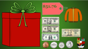 Google Classroom: Money- Counting Money up to $100 (Christmas)
