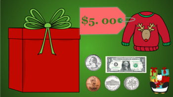 Google Classroom: Money- Counting Money up to $5 (Christmas)
