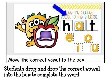 Google Classroom Vowels Sounds in CVC Words