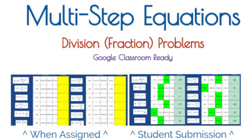 Google Classroom: Multi-Step Equations with Division