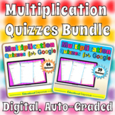 Google Classroom Multiplication Facts Tests 0-12 MEGA Bundle: Combined