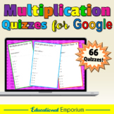Google Classroom Multiplication Facts Tests 0-12 MEGA Bundle: Times-Tables|Mixed