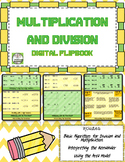 Multiplication and Division Digital Interactive Notebook for Google Classroom