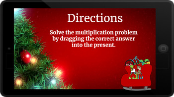 Google Classroom: Multiply 1 Digit Numbers- Christmas