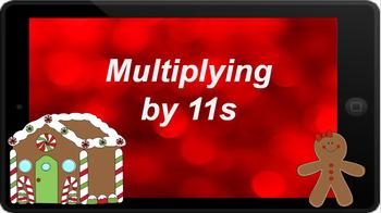 Google Classroom: Multiply by 11s - ChristmasTheme