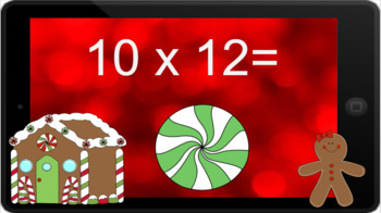 Google Classroom: Multiply by 12s - Christmas Theme