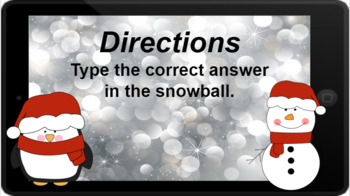 Google Classroom: Multiply by 2s - Winter Theme