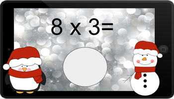 Google Classroom: Multiply by 3s - Winter Theme