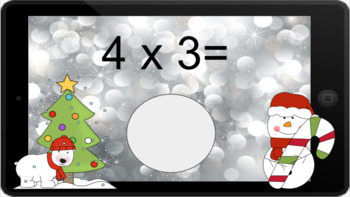 Google Classroom: Multiply by 4s - Winter Theme