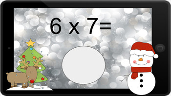 Google Classroom: Multiply by 7s - Winter Theme