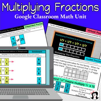 Google Classroom Multiplying Fractions Unit