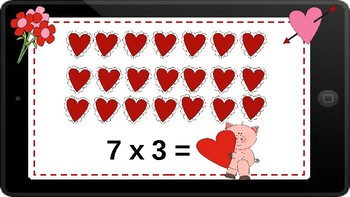 Google Classroom: Multiplying with an Array- Valentine's Day