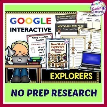 Google Classroom Explorers Research & Graphic Organizers
