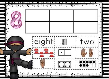 Google Classroom Ninja Number Puzzles 0-10