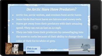 Google Classroom: Nonfiction Text and Questions- Arctic Hare