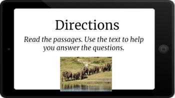 Google Classroom: Nonfiction Text and Questions- Elephants