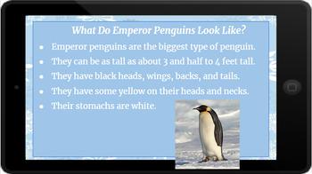 Google Classroom: Nonfiction Text and Questions- Emperor Penguin