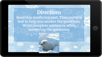 Google Classroom: Nonfiction Text and Questions- Harp Seal