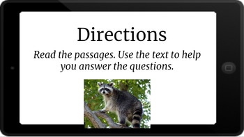 Google Classroom: Nonfiction Text and Questions- Raccoons