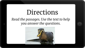 Google Classroom: Nonfiction Text and Questions- River Otter