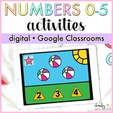Google Classroom™ Digital Numbers 0-5 Unit - Distance Learning
