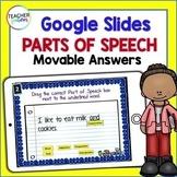 Google Classroom Activities PARTS OF SPEECH TASK CARDS