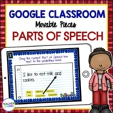 Google Classroom Activities | PARTS OF SPEECH | Digital Task Cards