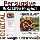 Persuasive Writing for Google Classroom: The NFL and the Washington R-Word
